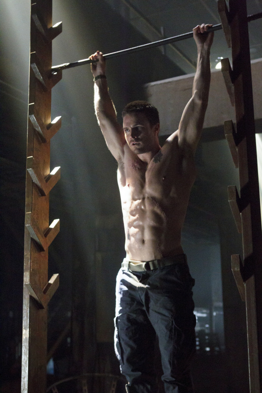 salmon ladder workout, crossfit gloves, stephen amell, american ninja warrior workout, hot shirtless guys