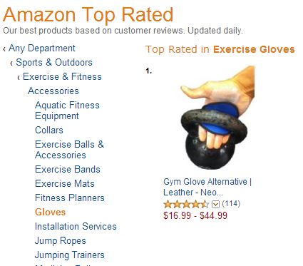 top rated workout glove amazon