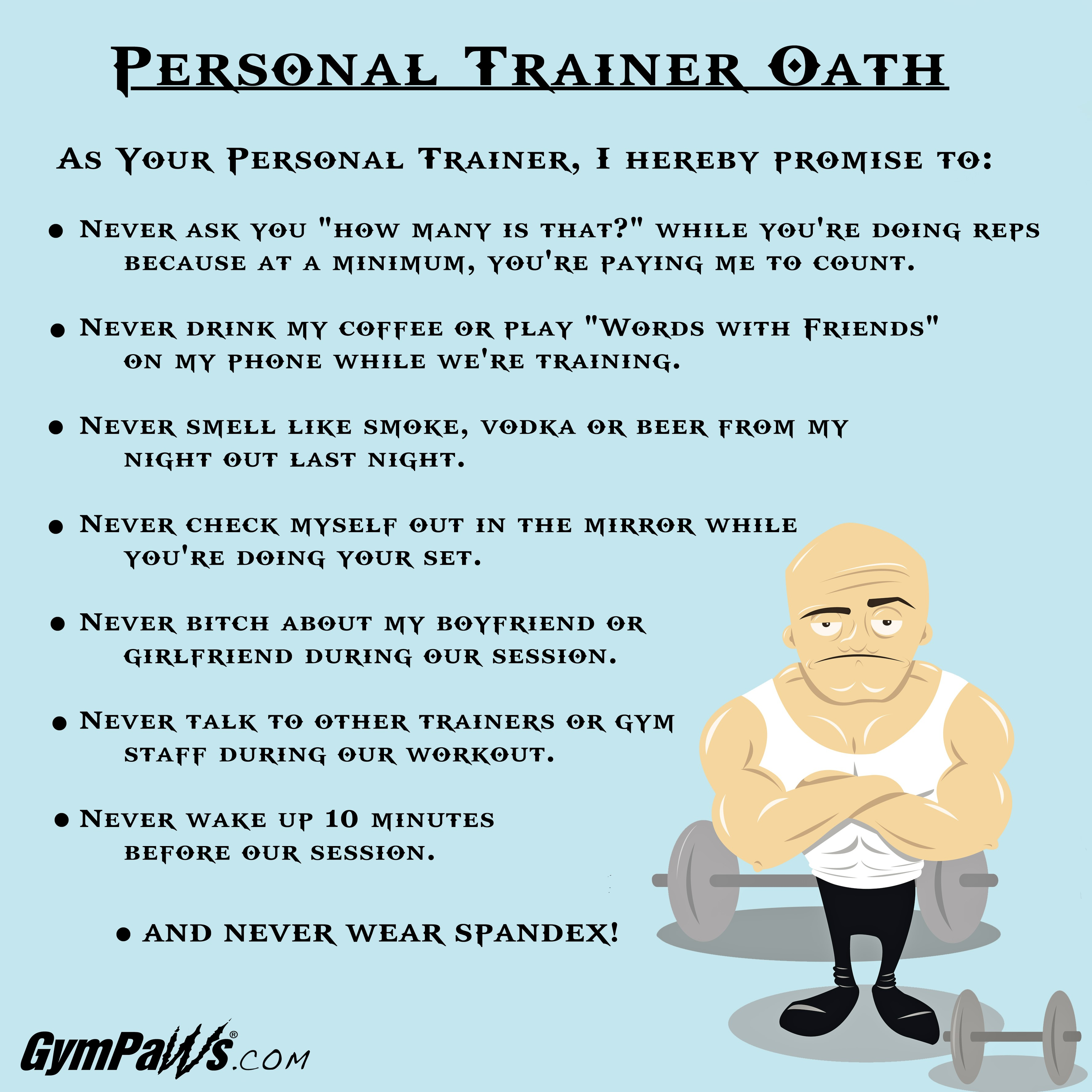 personal trainer oath