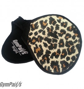 Cheetah Workout Gloves, Leather Gym Grips