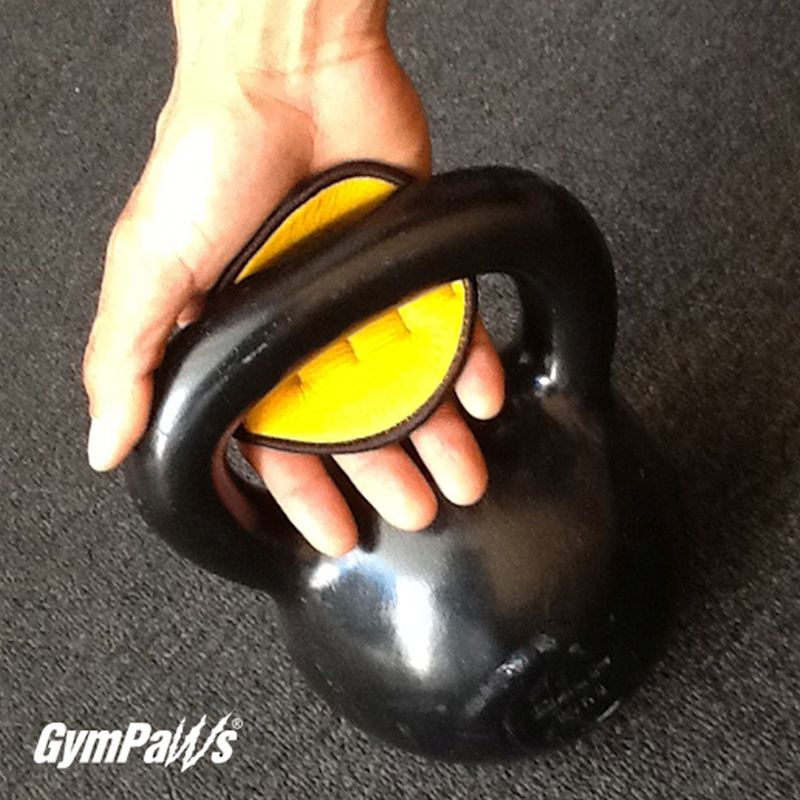 Yellow Workout Glove Lifting Grips