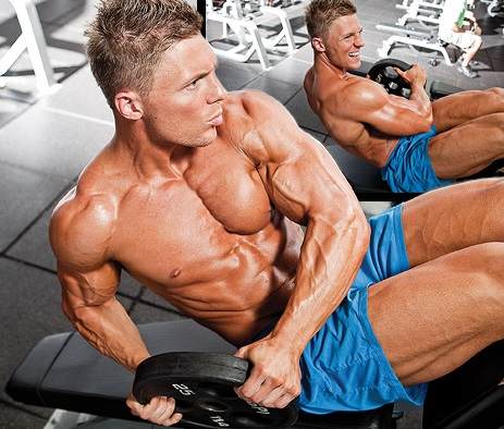 v shaped abs workout russian twist