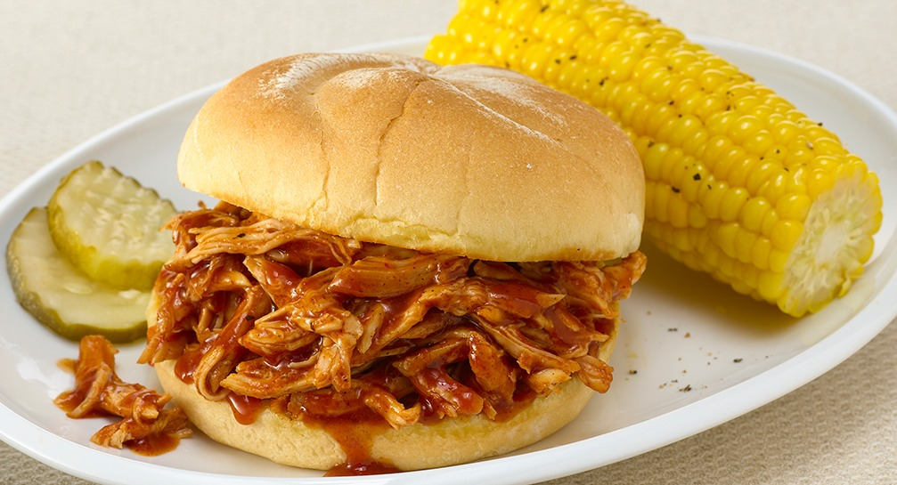 Sweet and smoky pulled chicken crockpot recipe