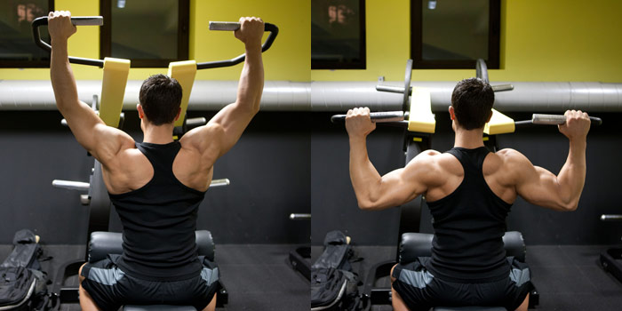 What is a pronated grip in lat pulldowns?