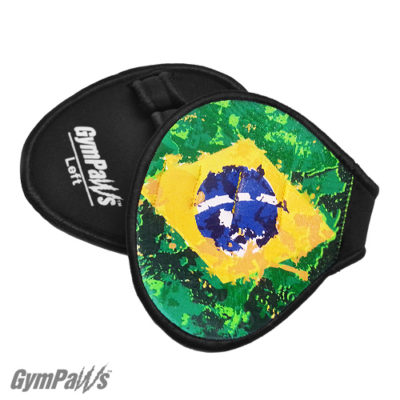 Leather-Lifting-Grips-Brazil-Flag, GymPaws-Gym-Gloves