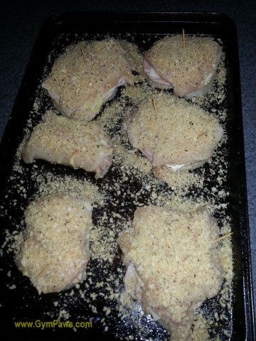 Lifting Grips, Healthy Chicken Cordon bleu recipe