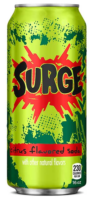 Surge Soda Calories - Surge Nutrition Facts