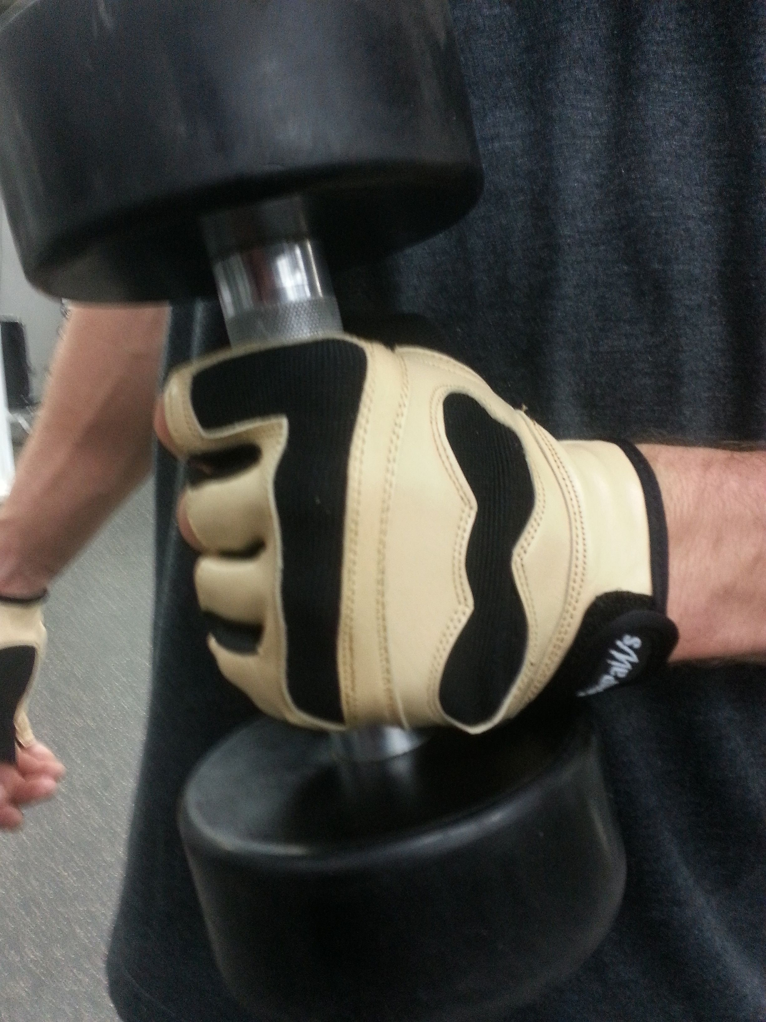 The Swolemate Gym Gloves - Men's Natural