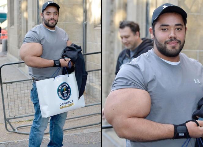 biggest biceps ever measured