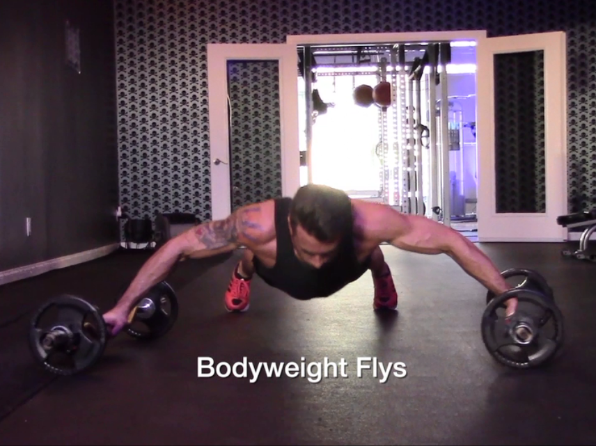 Bodyweight Flyes Chest Rollout