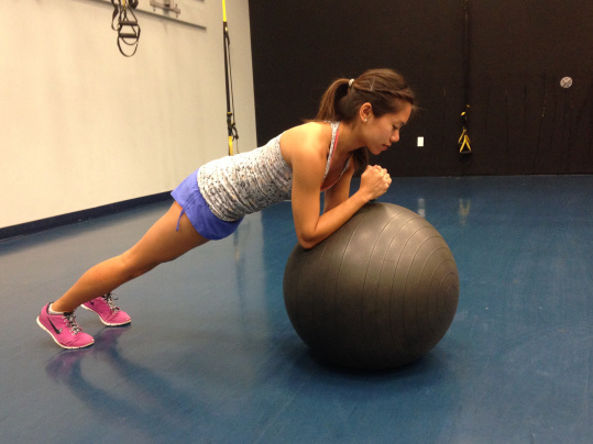 Elbow Plank On The Exercise Ball