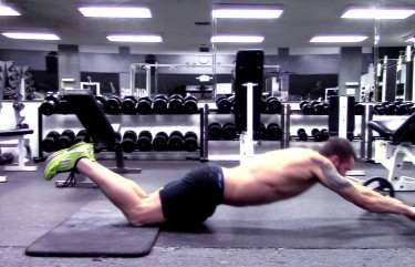 Barbell Rollout for V Shaped Abs