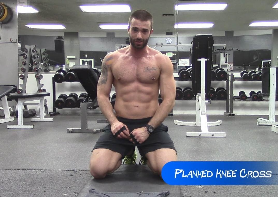 Plank Knee Cross Exercise for Abs