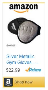 Silver Gym Gloves