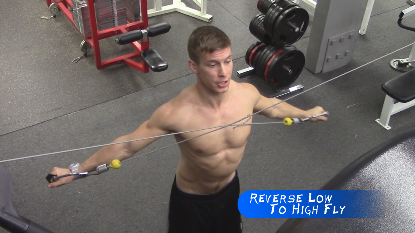Reverse Cable Fly Exercise Low To High
