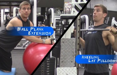 Training For Pull Ups ♠ Kneeling Lat Pull Down – Plank Extensions