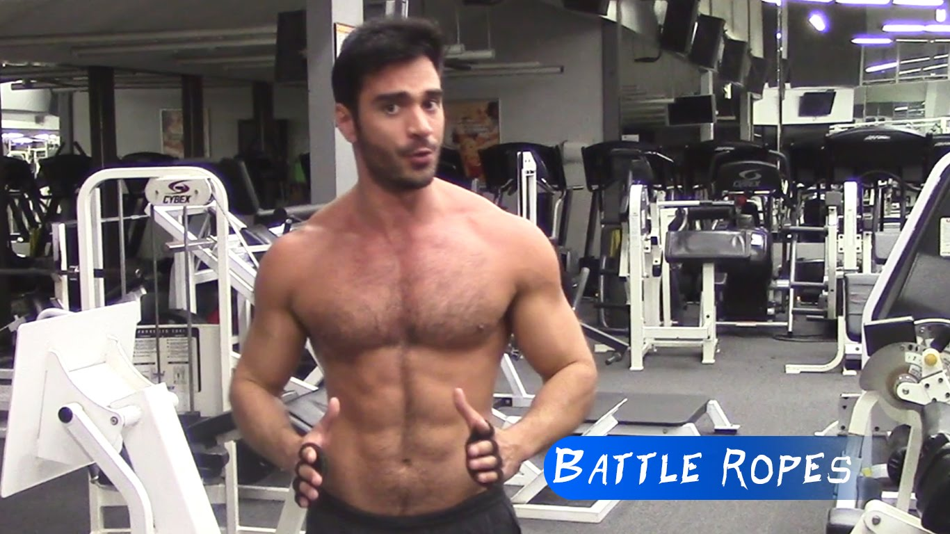Battling Ropes Without Weight Training Gloves