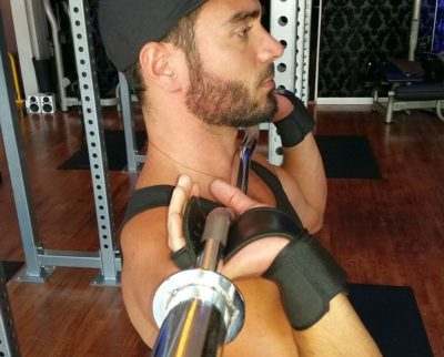 The Shredder Leather Workout Grips with Wrist Support