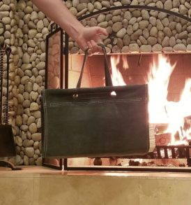 Suede Firewood Carrier