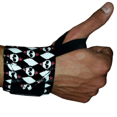 Skull Pattern Wrist Wrap Main